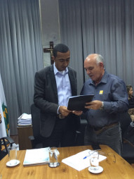 Foto: VICE-GOVERNADOR OFICIALIZA DEMANDAS DO SINDMAC-DF - 6